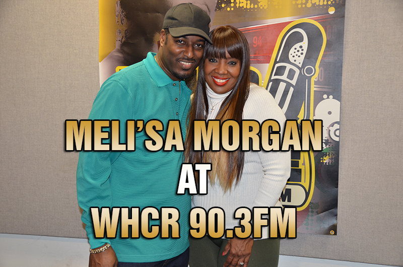 Melisa Morgan with Maurice THE VOICE Watts on WHCR 90.3FM