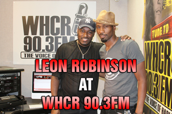 Leon with Maurice THE VOICE Watts on WHCR 90.3FM
